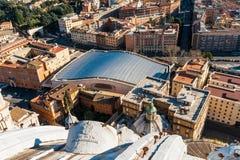 保禄六世观众霍尔是一个大厦在罗马,意大利 库存图片