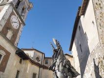 保禄六世雕象瓦雷泽,联合国科教文组织神圣的山的  免版税库存照片