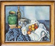 保罗Cézanne,静物画用苹果, J 集中getty 免版税库存照片