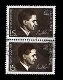 保罗Keres,著名苏联爱沙尼亚语棋球员,棋计算主教和骑士,大约1991年, 免版税图库摄影