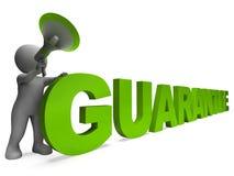 保证字符显示被保证人保证的或保证 向量例证