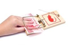 保证金捕鼠器 库存图片