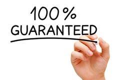 保证100% 免版税库存图片