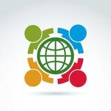 保重关于生态和地球,传染媒介的社会 免版税库存照片