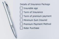 保险包裹最佳的选择细节  免版税库存照片