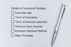 保险包裹最佳的选择细节  免版税库存图片