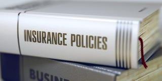 保险单-企业书标题 3d 免版税库存图片