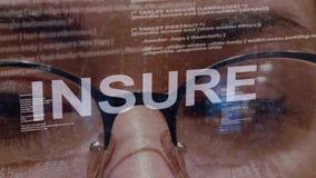 保险在女性软件开发商的文本 影视素材