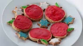 保险开关曲奇饼为犹太新年犹太新年假日 股票视频