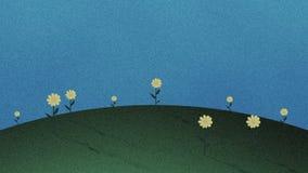 保险开关草小山和花减速火箭的动画片背景 库存例证