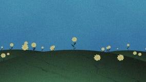 保险开关草小山和花减速火箭的动画片背景 皇族释放例证