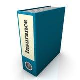 保险文件夹 免版税库存图片