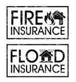 保险标签 免版税库存图片