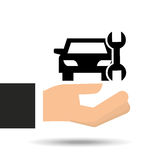 保险汽车支撑工具图表 免版税库存图片