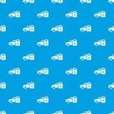 保险汽车样式传染媒介无缝的蓝色 免版税库存图片