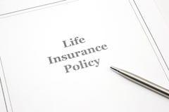 保险生活笔制度符号 免版税库存照片