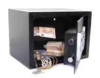 保险箱在演播室 免版税库存照片