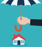 保险设计,传染媒介例证 免版税库存图片