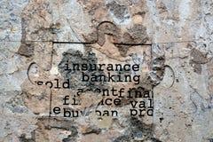 保险银行业务难看的东西概念 免版税库存照片