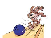 保龄球兔子 皇族释放例证
