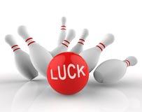 保龄球运气代表十Pin和赌注3d翻译 库存照片
