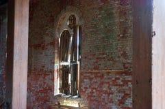 信义会1891总Crescenta,老红砖大厦 免版税图库摄影