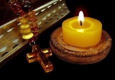 信仰蜡烛 免版税库存照片