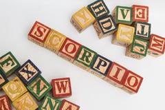 信件的安排形成一个词,版本67 免版税库存照片