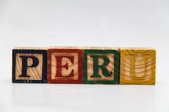 信件的安排形成一个词,版本123 免版税库存图片