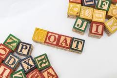 信件的安排形成一个词,版本162 免版税库存照片