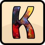 信件颜色设计艺术 免版税图库摄影