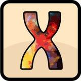 信件颜色设计艺术 免版税库存照片