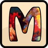 信件颜色设计艺术 图库摄影