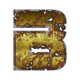 信件B象在生锈的金属传统化了 向量例证
