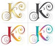 信件K字母表铅印设计 库存照片