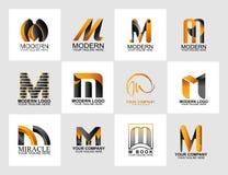 信件M商标汇集,公司本体商标 库存例证