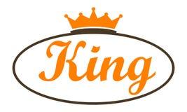 信件Modern Logo国王 免版税库存图片