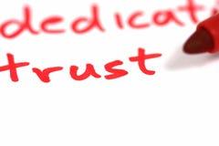 信任 免版税库存图片