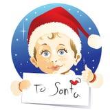 信函圣诞老人 向量例证