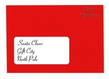 信函圣诞老人 库存照片