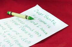 信函圣诞老人 免版税库存照片