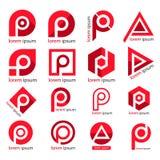 信函徽标p P书信设计,品牌身份 图库摄影