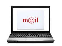 信包例证膝上型计算机邮件向量 库存照片