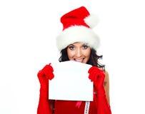 信包俏丽的妇女 免版税库存图片