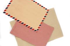 信包的三种类型 免版税库存图片