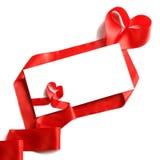 信包红色丝带 免版税库存图片