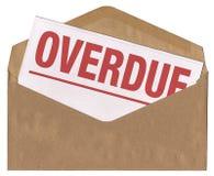 信包逾期信函的通知单 免版税图库摄影
