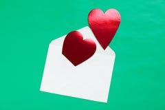 信包重点纸张红色 库存照片