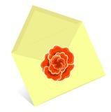 信包黄色 皇族释放例证