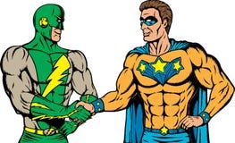 信号交换超级英雄 免版税库存图片